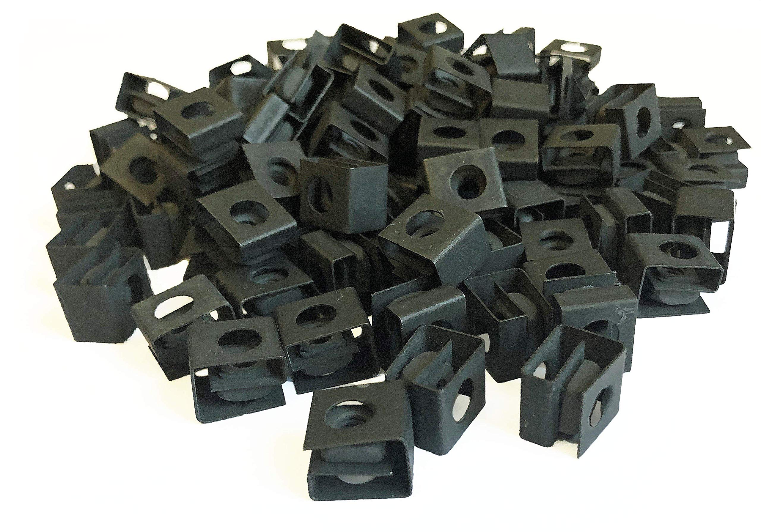 RackGold Black 12-24 Slide-on Cage Nuts 100 Pack - USA Made by RackGold