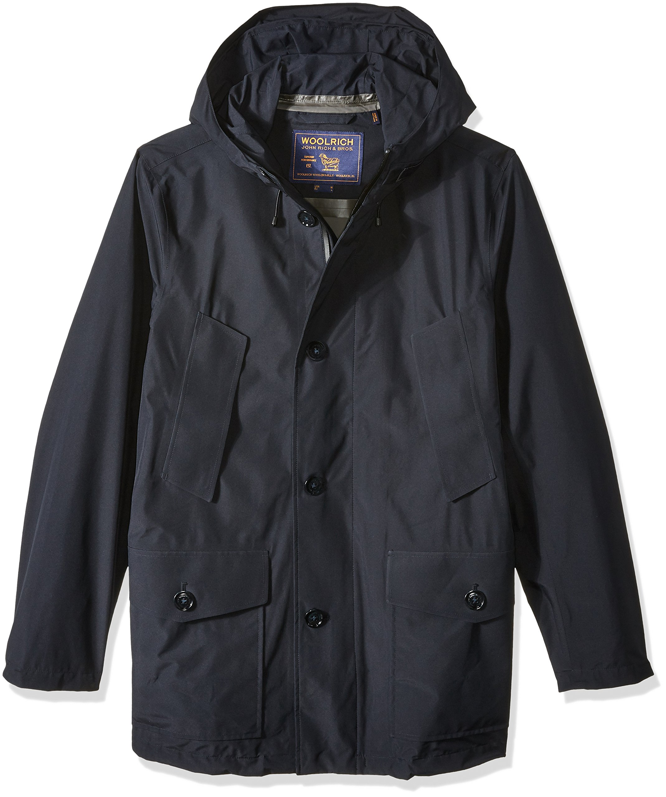 Woolrich John Rich & Bros. Men's Gtx Summer Parka, Navy Melton, M