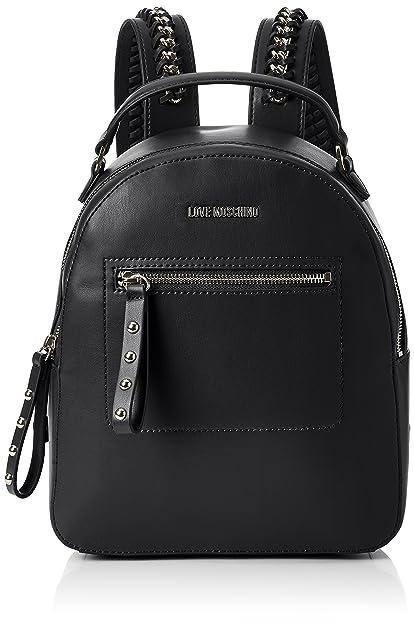Borsa Calf Pu Nero, Womens Backpack Handbag, Black, 17x32x33 cm (B x H T) Love Moschino