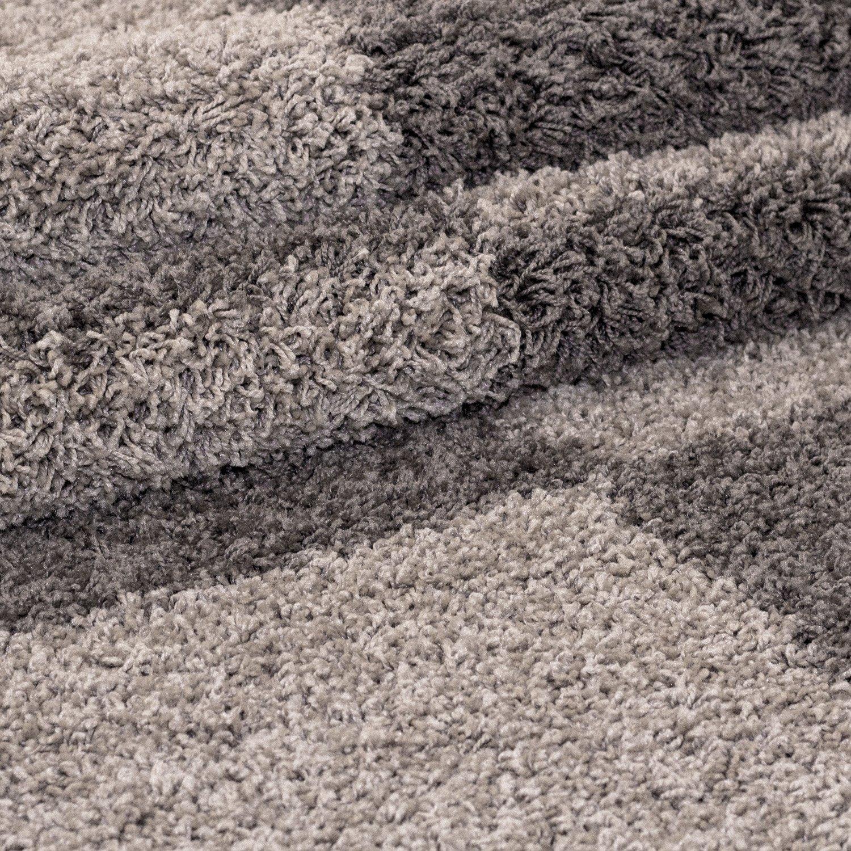 Hochflor Shaggy Teppich Teppich Teppich Rechteckig und Rund 3 cm Florhöhe Kariert Wohnzimmer, Farbe Grau, Maße 240x340 cm B077M3759L Teppiche 494f8a