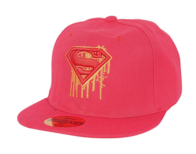 b0b56d55e8942 Image Unavailable. Image not available for. Colour  Krystle Unisex Cotton  Red Superman Hip Hop Snapback Cap