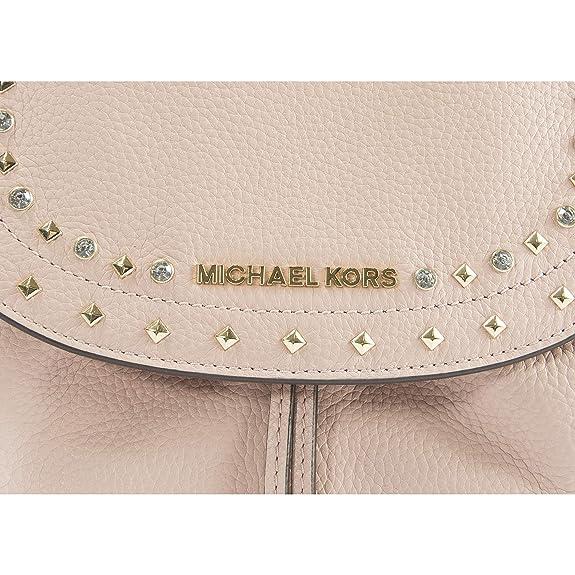 36dded37cdf230 Amazon.com: Michael Kors Jet Set Riley Jewel Studded Pastel Pink Large Leather  Backpack: Shoes