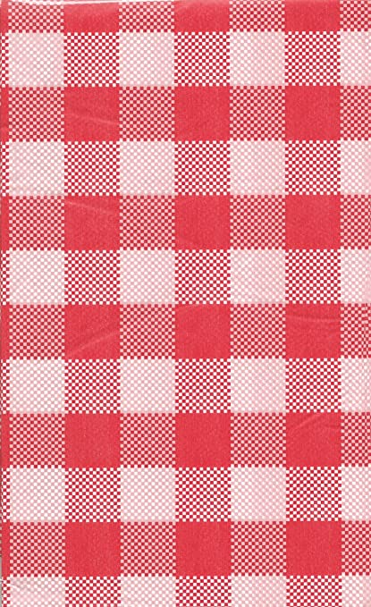 Genial Summer Picnic Gingham Plastic Tablecloth 54 In X 108 In   Red U0026 White  Checkered By
