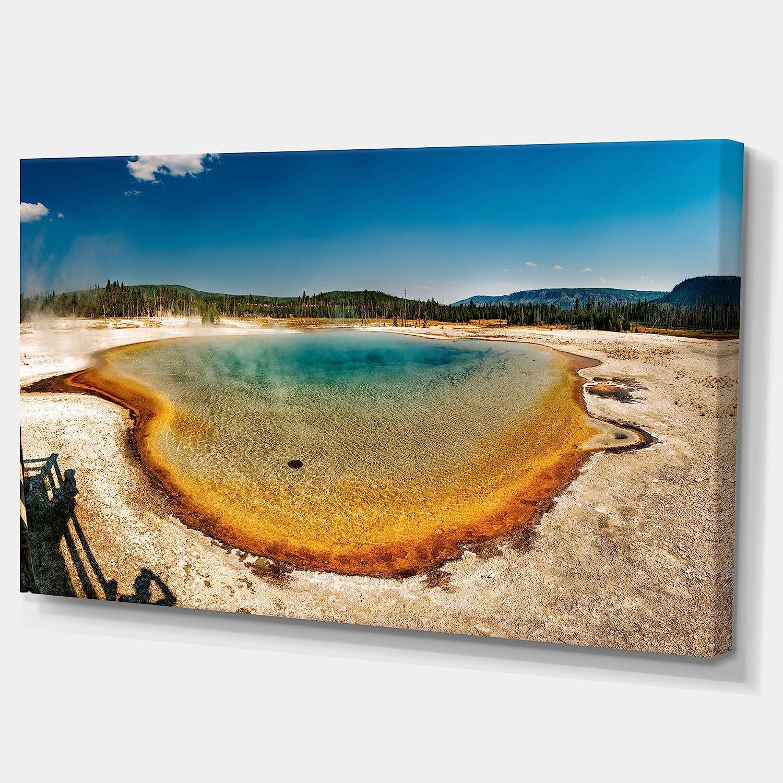 Amazon Com Design Art Pt11332 32 16 Yellowstone Heat Pool Panorama Landscape Print Wall Artwork 32x16 32x16 Posters Prints