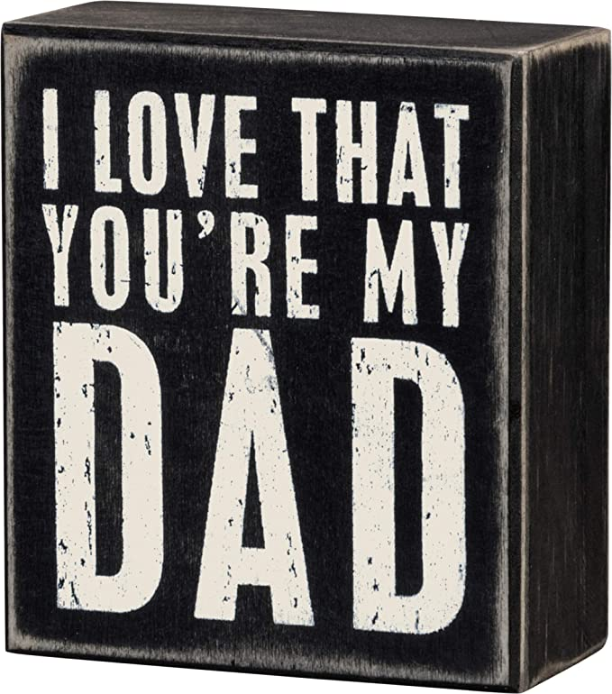 shabby /& Chic vintage dad daddy fathers day always be my king sign  plaque