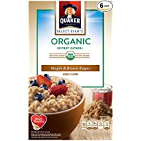 6-Pack Quaker Instant Organic Oatmeal Breakfast Cereal Deals