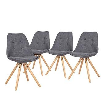Foncé Lot Design 4 Gris Chaises Bobochic De Scandinave Fiska sxBhrCtdQ