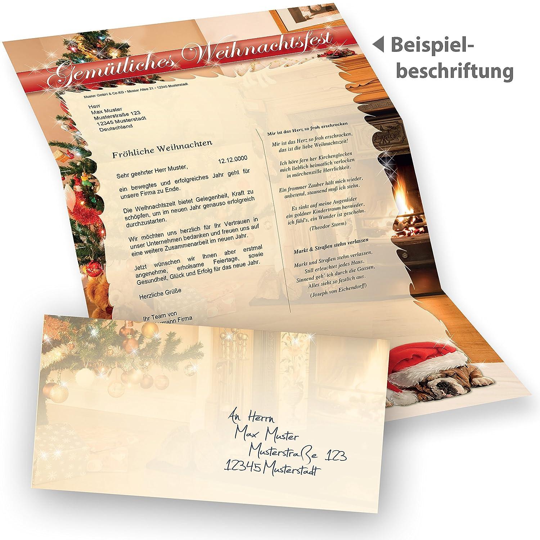 TATMOTIVE Briefpapier Briefpapier Briefpapier Weihnachten Hunde (250 Sets ohne Fenster) sehr gute Qualität B005H7F28Q | Economy  2a4c18