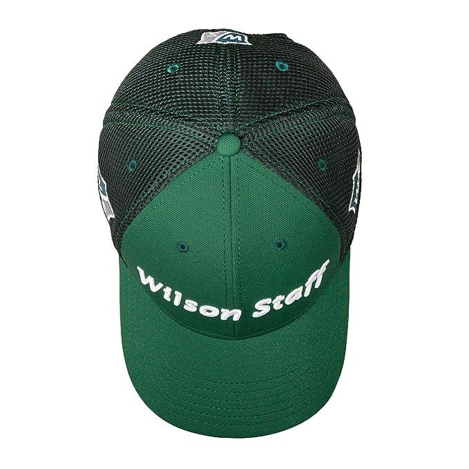 edeaf056b0a2c Wilson Staff Golf 2016 Tour Mesh Hat Structured Mens Cap - Adjustable Dark  Green
