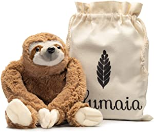Lulumaia Sloth Heating Pad for Cramps - Cuddly Plush with Microwavable Heating Pad for Neck, Stomach, Back Pain Relief - Tension, Stress Relief Gift in Canvas Bag