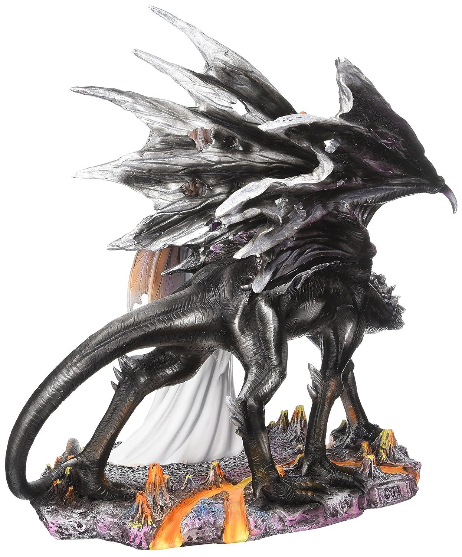 Major-Q G8092015 14 Fairy with Black Dragon Statue Figurine Home Decor Sculptures Polyresin