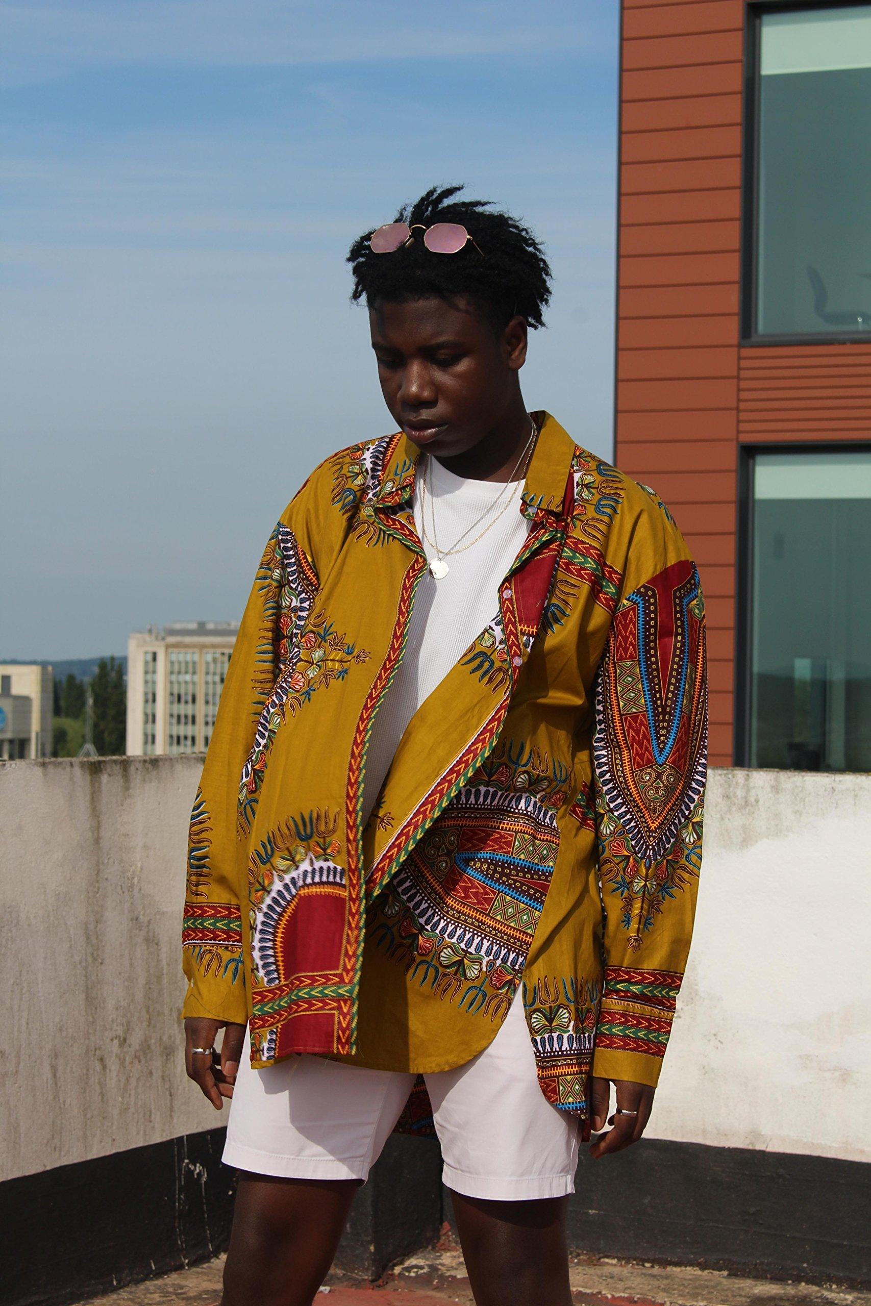 African Longline Shirt Dashiki Shirt Festival Clothing African Clothing African Shirt Summer Shirt Festival Shirt Wax Print Shirt Unisex