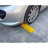 PWS-32Yx1 Tope plástico de rueda para estacionar en estacionamientos comerciales y domésticos y garajes privados, de color amarillo, dimensiones 53×15 x 9,5 cm (paquete de 1)