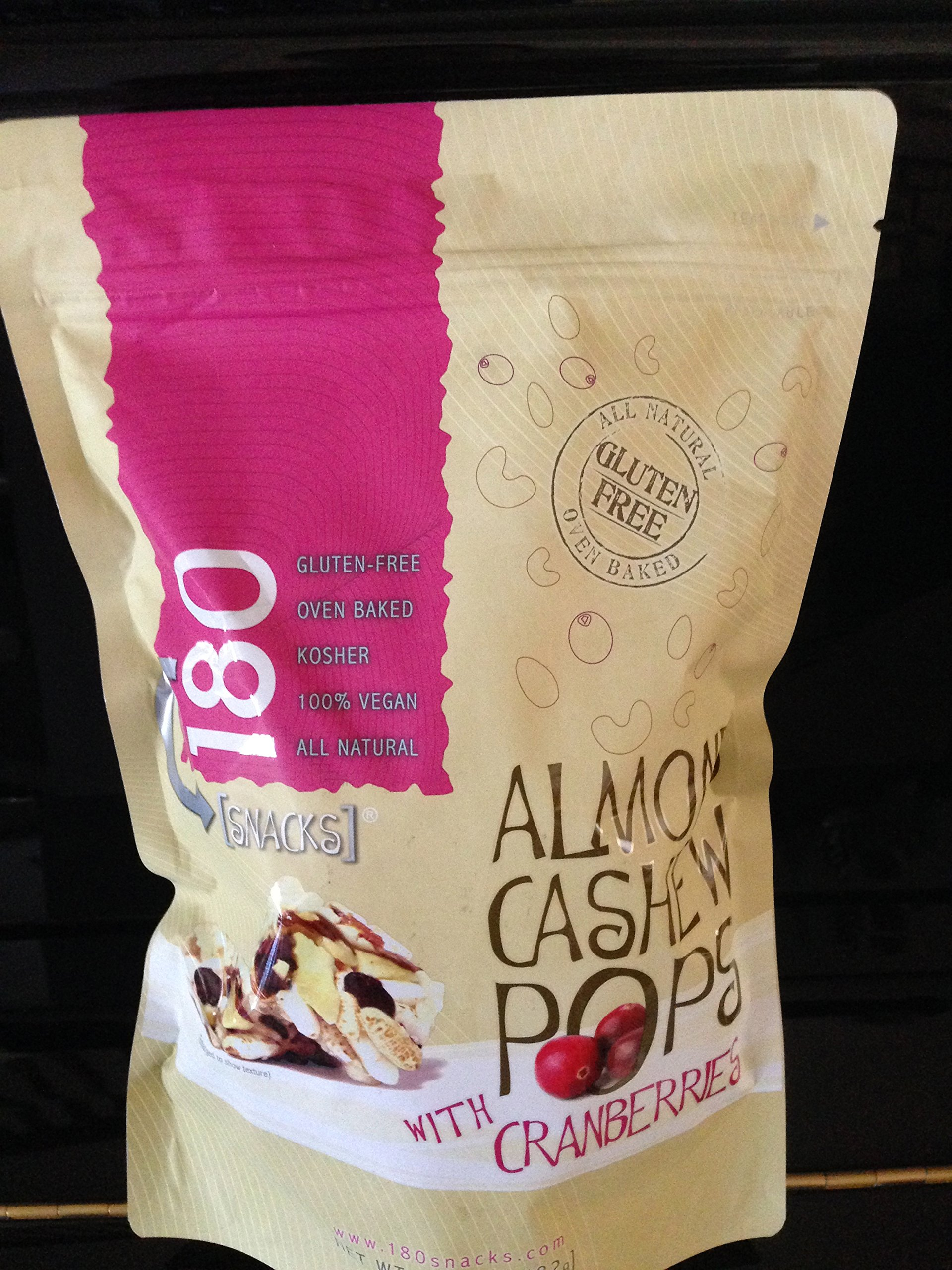 180 Snacks Almond Pops With Cranberries 17 oz Value Bag by 180 Snacks (Image #1)
