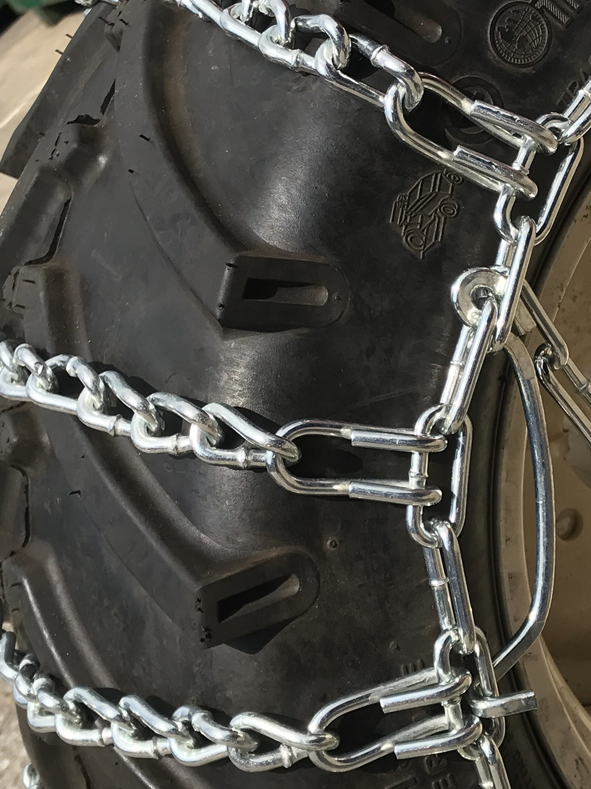 TireChain.com Heavy Duty, 2-link Lawn and Garden Tire Chains, Priced per pair. 23 X 9.50 X 12, 23 X 10.50 X 12 by TireChain.com (Image #2)