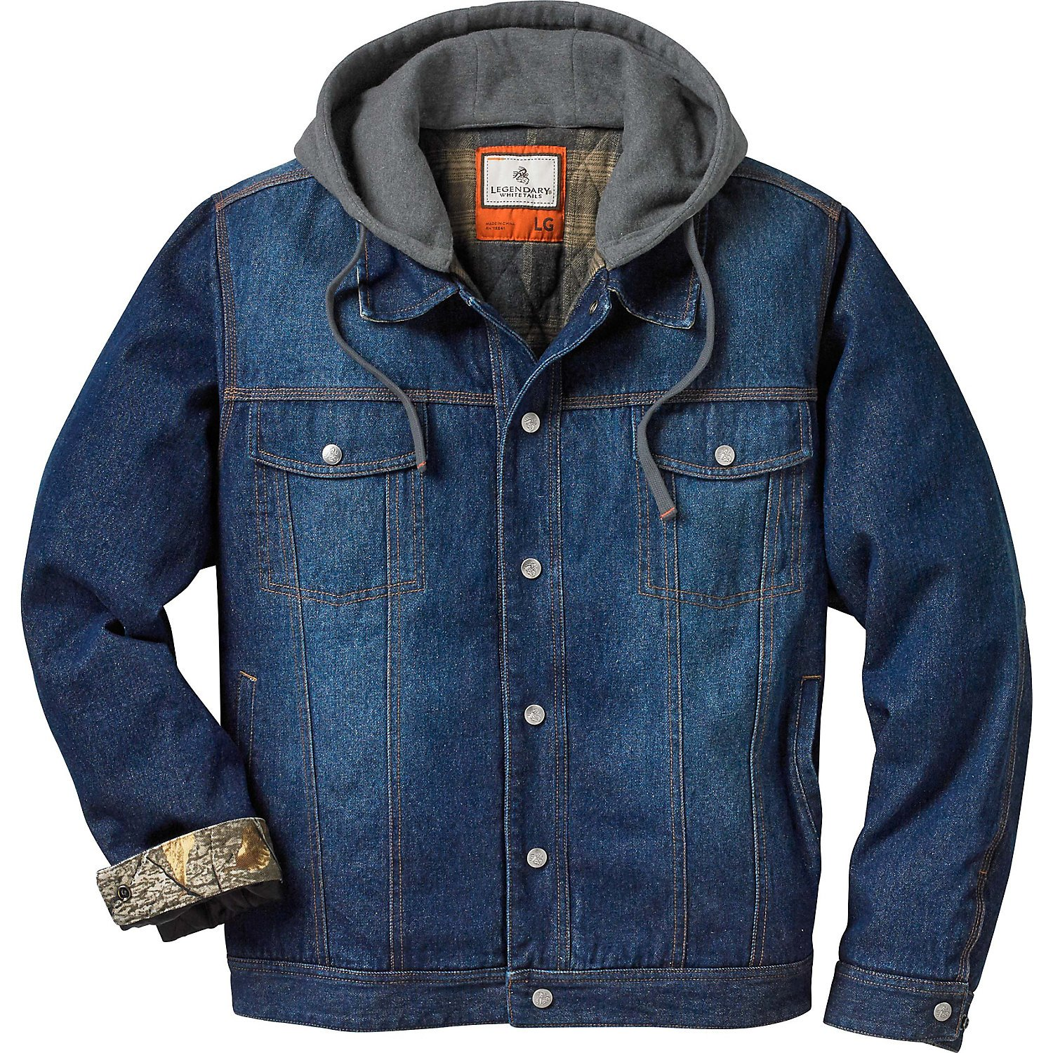 Legendary Whitetails Men's Hideout Conceal and Carry Denim Jacket Denim Small by Legendary Whitetails
