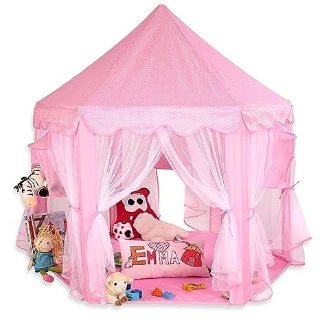 tenda gioco bambino  KIDUKU Tenda gioco per Bambini Rosa, Castello di gioco, Castello  principessa tenda da gioco grotta da gioco per bambini