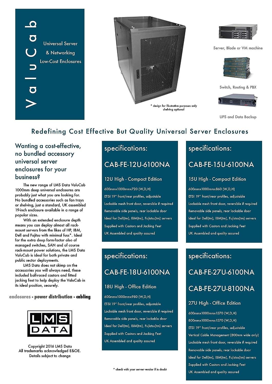 15U 19 600x1000 Floor Standing Server Cabinet Rack