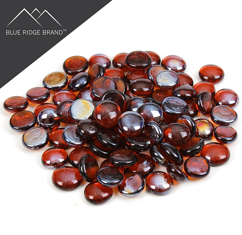 apx 230 Dark Amber Glass Pebbles 1kg
