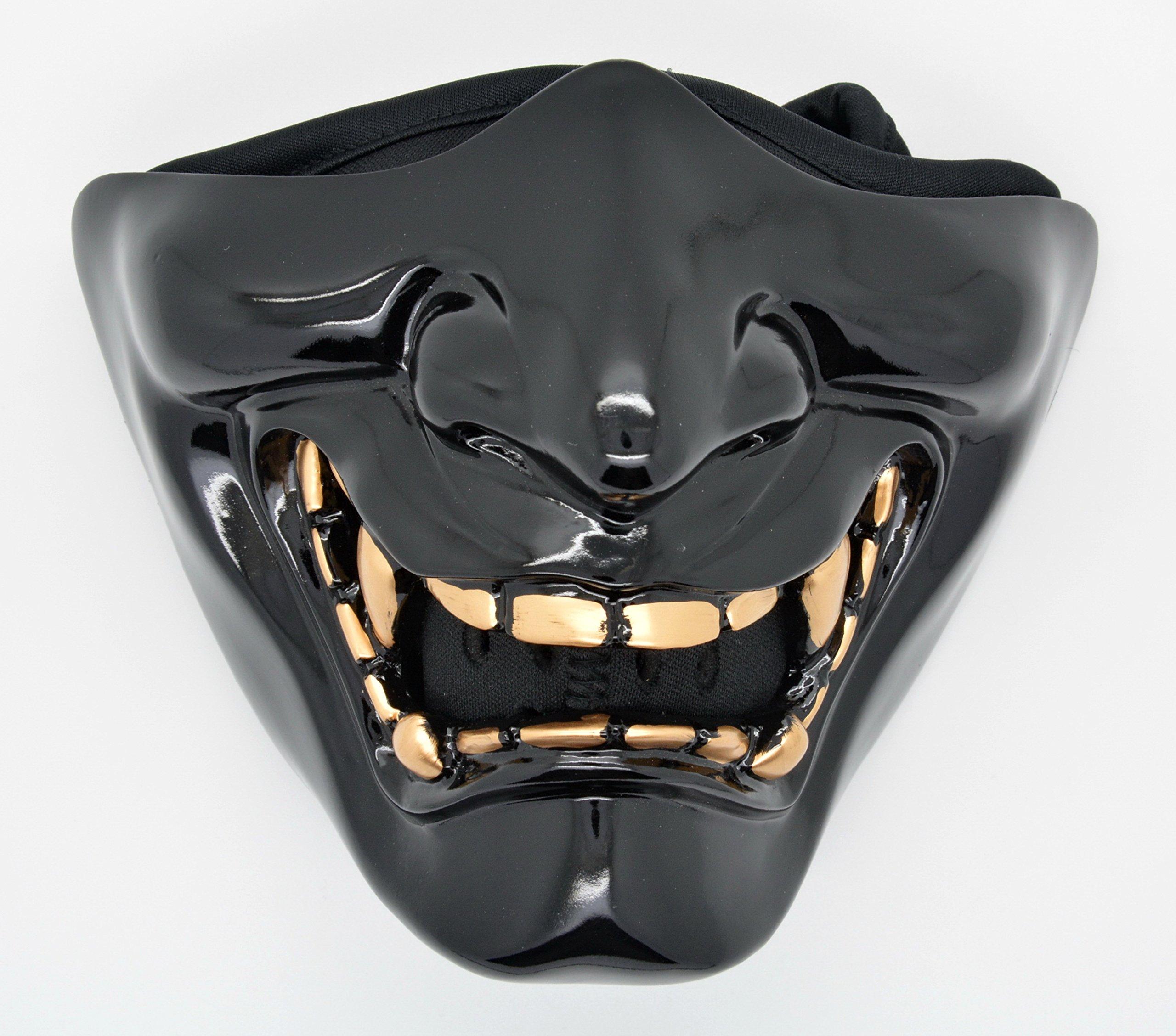 Samurai Half Face Mask Filter Motorcycle Biker Cycling Ski Snowboard Winter