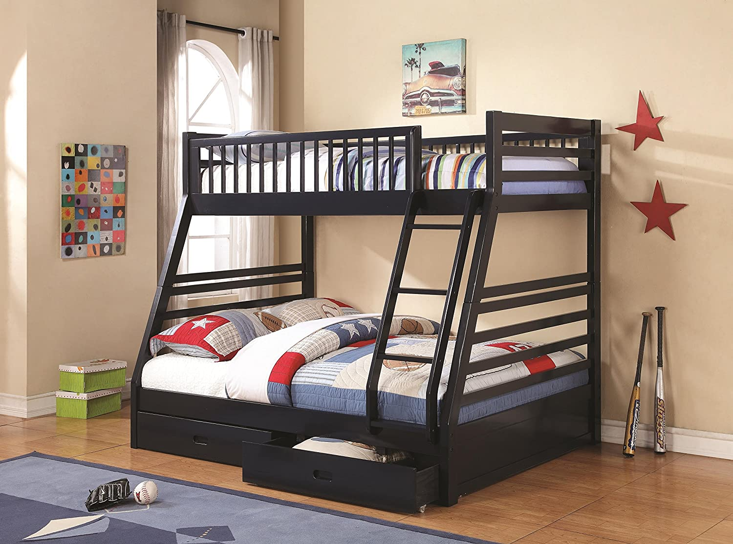 Amazon Twin Over Full Bunk Bed Navy Blue Kitchen Dining