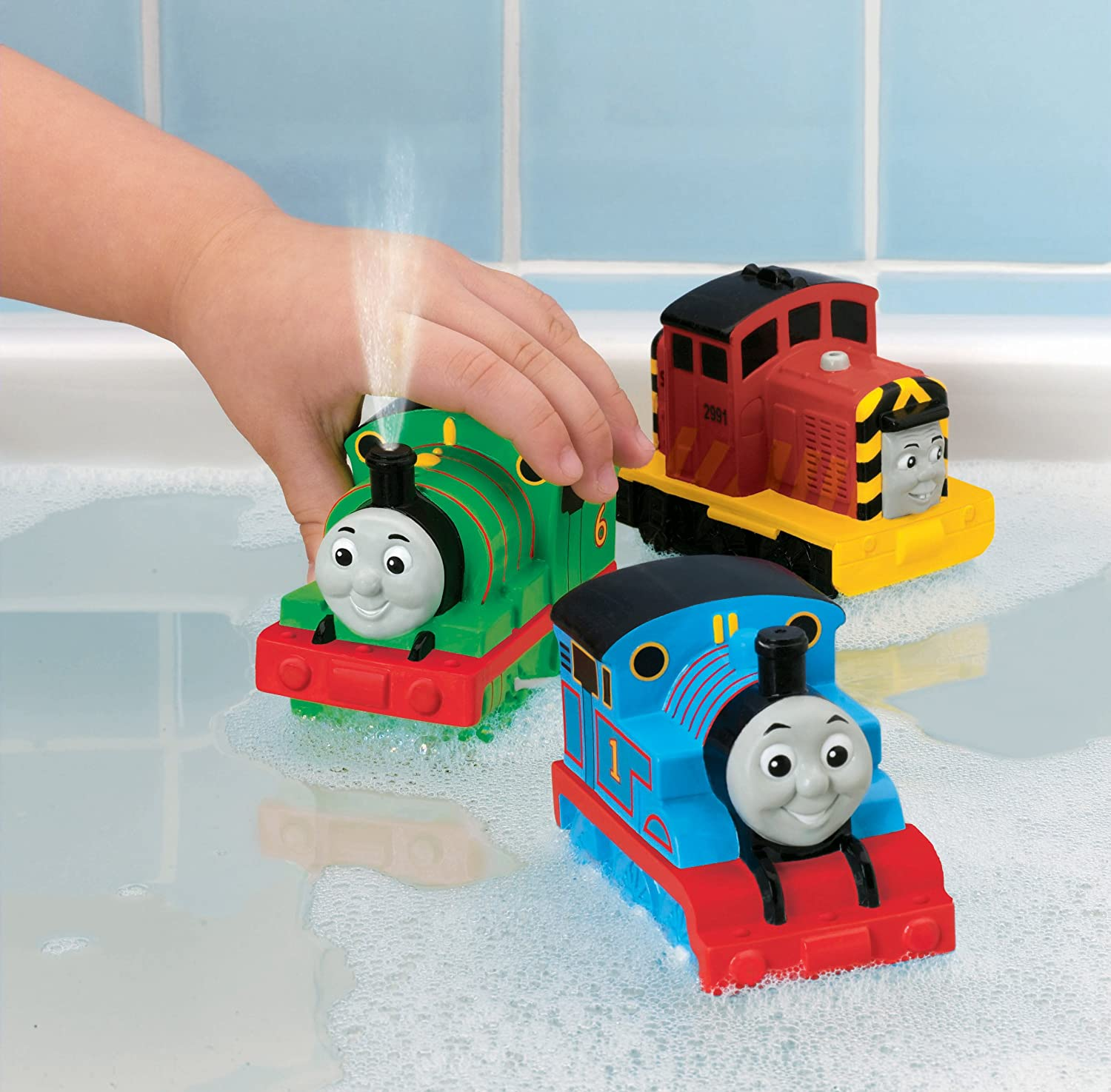 Thomas the train bathroom set - Amazon Com Fisher Price Thomas And Friends Bath Squirters 3 Pack Styles May Vary Toys Games