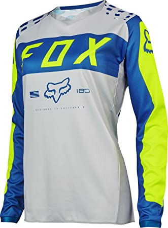 2cef6dfb2c0 Amazon.com  Fox Racing 2017 Womens 180 Jersey-Grey Blue-XS  Clothing