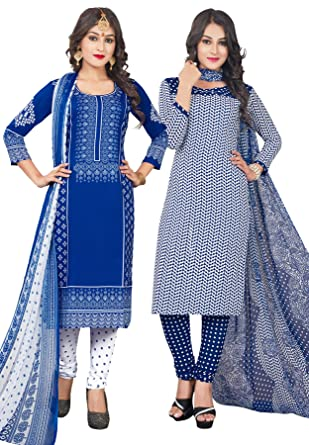 Salwar Studio Women S Pack Of 2 Synthetic Unstitched Dress Material