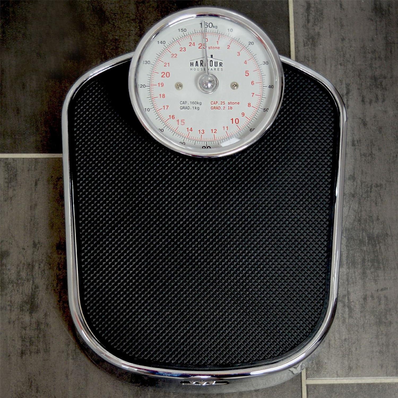 Báscula de Baño tradicional - Cromo - Peso máximo 160 kg: Amazon.es: Hogar
