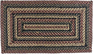 """IHF Home Decor BlackBerry Braided Rug 20""""x30"""" to 8'x10' Rectangle Accent Floor Carpet Natural Jute Material Doormat   Black, Plum, Tan Woven Collection (8' x 10')"""