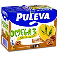 Puleva Leche Omega 3 con Nueces - Pack de 6 x 1 l - Total: