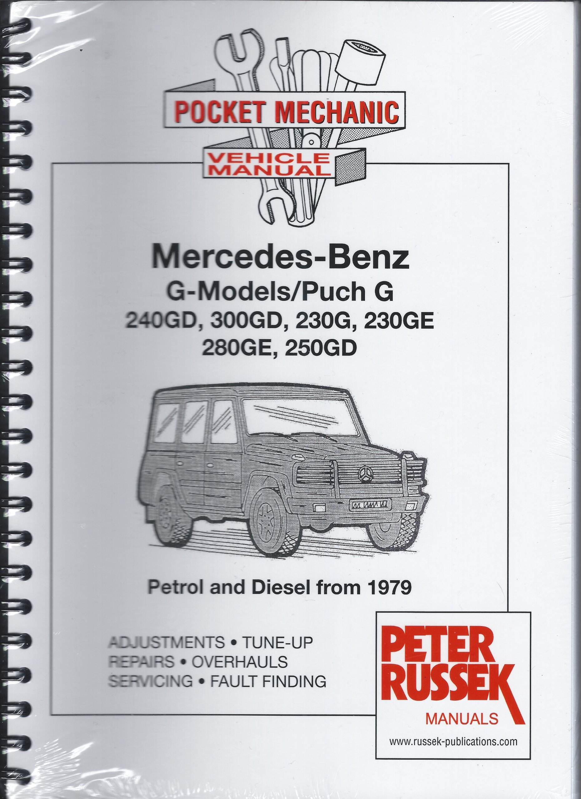 Mercedes Benz G Models Puch 240gd 300gd 230g 230ge 280ge Wiring Diagram 250gd Petrol Diesel From 1979 A4 Size Peter Russek Publications Ltd