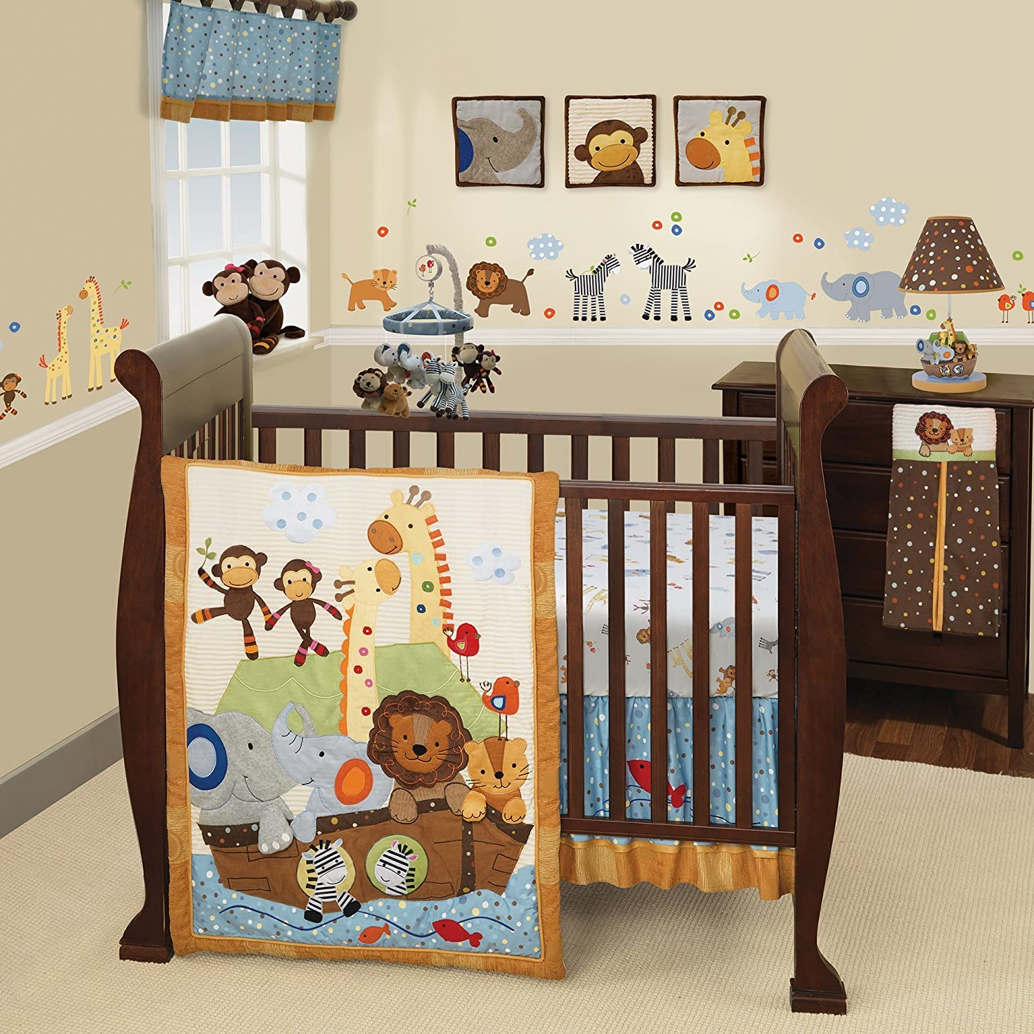 Lambs & Ivy S.S. Noah 9-Piece Crib Bedding Set 519009V