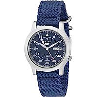 Seiko 5 Military Men's Blue Dial Nylon Band Automatic Watch - SNK807K2