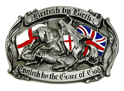 05784685f1d1 Angleterre Boucle de Ceinture - British by Birth, English by the Grace of  God -