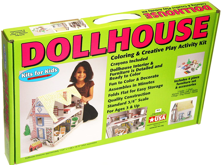 amazoncom creative dollhouse coloring activity kit toys games