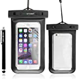 Waterproof Case with IPX8 Certificate for iPhone 6, 5, 5G, 4, 4S, 3G, 3GS / Samsung Galaxy S5, S4, S4 Active, S4 Mini, S3, S3 Mini, S2 (NOT suitable for Note 2 or 3) / iPod Touch 3, 4, 5 / HTC ONE X, ONE S Z520E, Windows Phone 8X (AT&T, T-Mobile, Verizon) / Blackberry Q10, Z10, Bold Touch 9900, Touch 9930 / Motorola DROID RAZR (Verizon) / LG NEXUS 4 (E960), P760 / Nokia Lumia 920, 820 (AT&T) plus 1 Stylus & 1 ECO-FUSED® Microfiber Cleaning Cloth (Black)