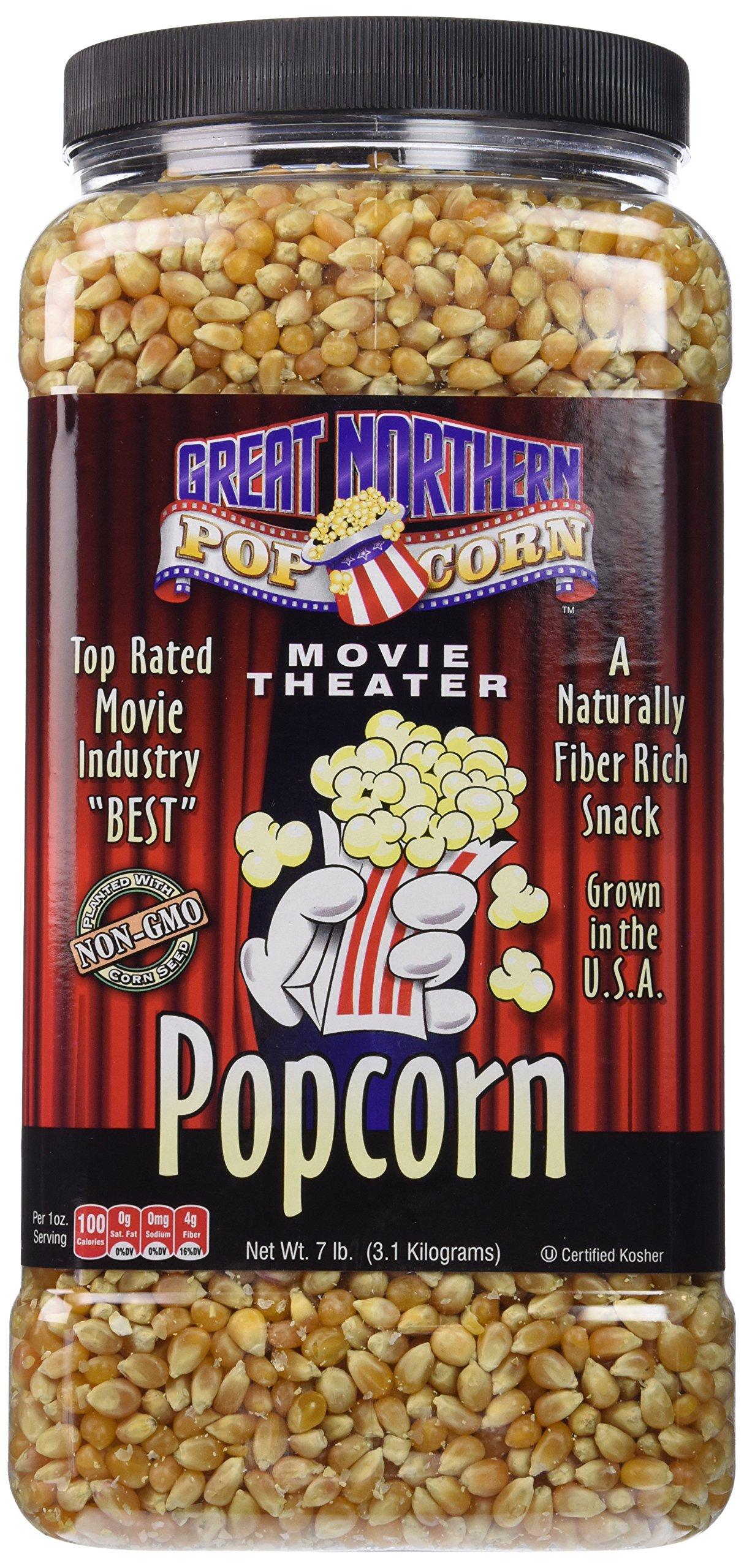 Great Northern Popcorn Premium Yellow Gourmet Popcorn, 7 Pound Jug by Great Northern Popcorn Company