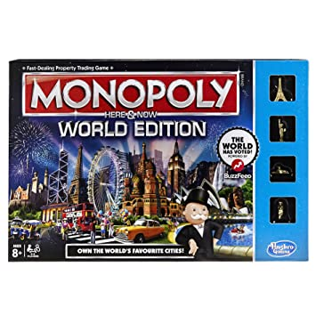 Monopoly here & now world edition | board game | boardgamegeek.