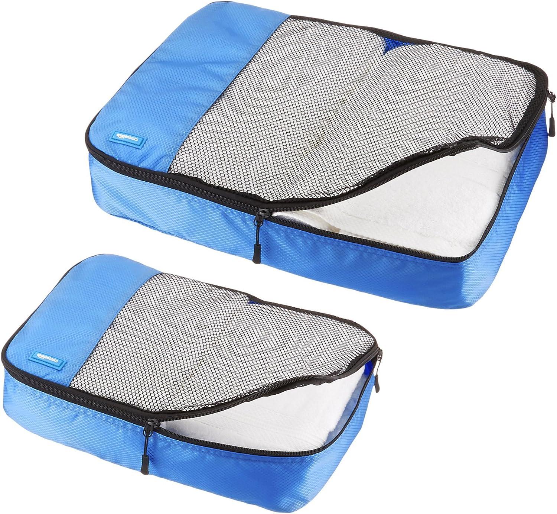 Basics Lot de 4/sacoches de rangement pour bagage Taille/M Bleu Ciel