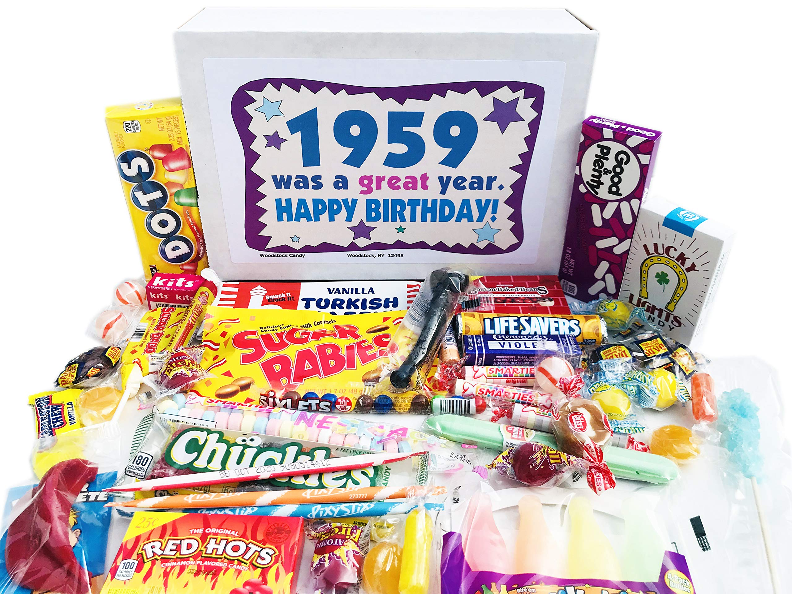 Woodstock Candy ~ 60th Birthday Gift Ideas Retro Vintage Candy Assortment from Childhood for 60 Year Old Man or Woman Born 1959 Jr by Woodstock Candy