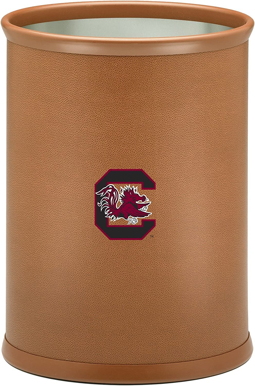 13-Quart Kraftware Collegiate NCAA South Carolina Fighting Gamecocks Oval Basketball Texture Wastebasket