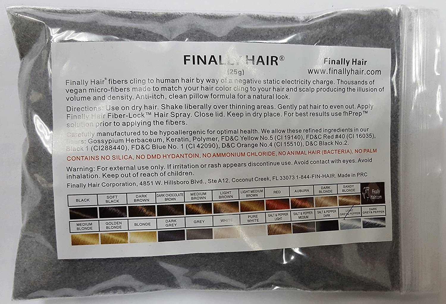 Hair Building Fibers Medium Brown 25 Grams Refill Your Existing Bottle. Highest Grade Fiber By Finally Hair Finally Hair Corporation