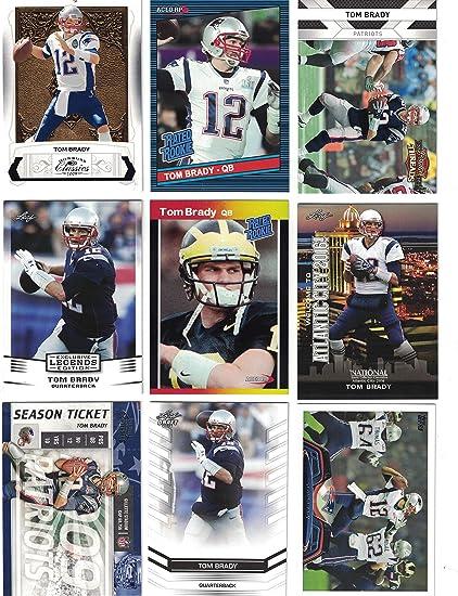 11e6aeea2 Tom Brady   9 Different Football Cards Featuring Tom Brady! Superbowl MVP!