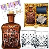 100% Karibik Rarität Spiced Rum Spirituose aus Barbados Sonderedition limitert 1.250 Stück Geschenk mit 2 geschliffenen Gläsern Geburtstag Geschenk für Männer & Kenner Weltreise