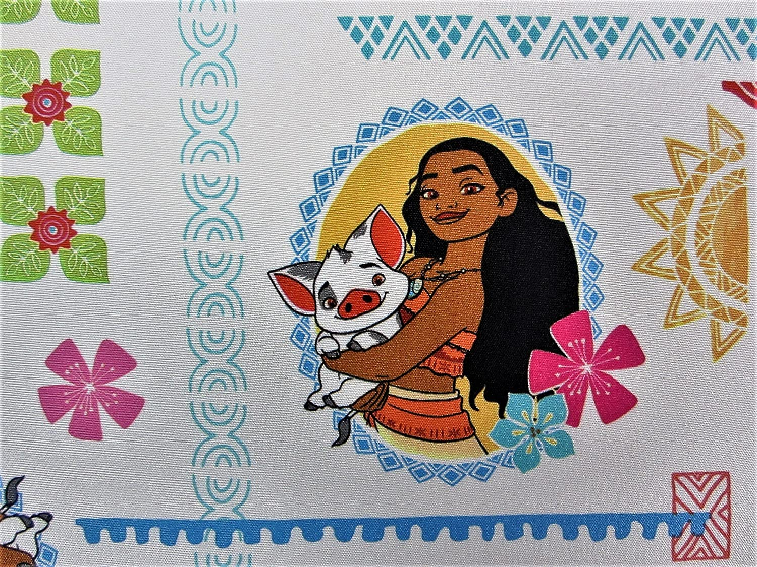 Moana Ocean Spirit 100% Polyester (FLAT SHEET ONLY) Size TODDLER Girls Kids Bedding Crown Crafts Infant Products Inc.