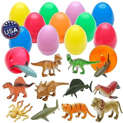 Amazon.com: 36 dinosaurios y animales en huevos de Pascua ...