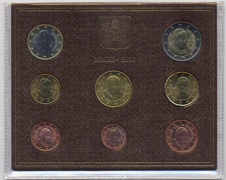 Officio Numismatico Vatican 2011 - Juego oficial de monedas en curso (8 monedas, de 1 céntimo a 2 euros, año 2011)