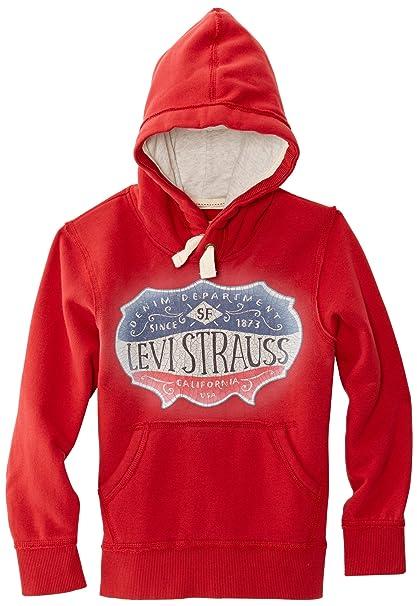 Levis Sweat - Sudadera con capucha para niño, talla FR : 8 ans (Taille