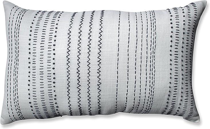Pillow Perfect Christmas Rectangular Throw Pillow Grey-White